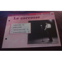 "FICHE FASCICULE ""PAROLES DE CHANSONS"" YVES MONTAND le carrosse 1958 collection occasion"