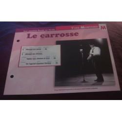 """FICHE FASCICULE """"PAROLES DE CHANSONS"""" YVES MONTAND le carrosse 1958"""