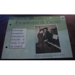 "FICHE FASCICULE ""PAROLES DE CHANSONS"" YVES MONTAND en sortant de l'école 1946 collection occasion"