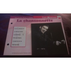 "FICHE FASCICULE ""PAROLES DE CHANSONS"" YVES MONTAND la chansonnette 1962 collection occasion"