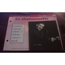 """FICHE FASCICULE """"PAROLES DE CHANSONS"""" YVES MONTAND la chansonnette 1962"""
