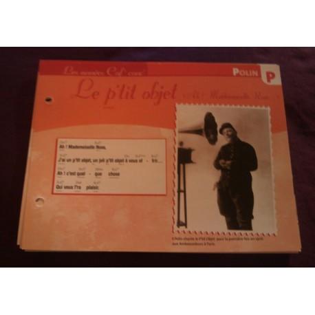 """FICHE FASCICULE """"PAROLES DE CHANSONS"""" POLIN le p'tit objet """"ah,mademoiselle rose"""" 1906"""