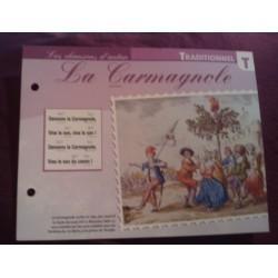 """FICHE FASCICULE """"PAROLES DE CHANSONS"""" TRADITIONNEL la carmagnole 1792"""