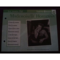 "FICHE FASCICULE ""PAROLES DE CHANSONS"" YVETTE GIRAUD mademoiselle hortensia collection occasion"