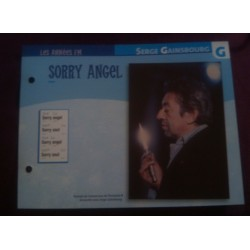 "FICHE FASCICULE ""PAROLES DE CHANSONS"" SERGE GAINSBOURG sorry angel collection occasion"