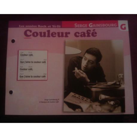 """FICHE FASCICULE """"PAROLES DE CHANSONS"""" SERGE GAINSBOURG couleur café"""