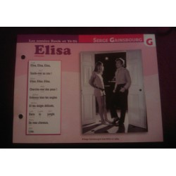 "FICHE FASCICULE ""PAROLES DE CHANSONS"" SERGE GAINSBOURG elisa collection occasion"