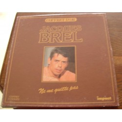 """Disque Vinyle 33 tours Coffret D'or """"Ne Me Quitte Pas"""" - Jacques Brel coffret 3 vinyles collection occasion"""