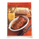 """FICHE CUISINE de ELLE vintage rétro par Madeleine Peter """"rôti de porc a la moutarde"""""""