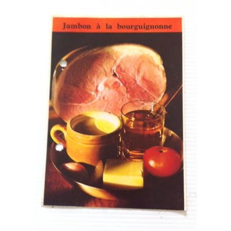 """FICHE CUISINE de ELLE vintage rétro par Madeleine Peter """"jambon a la bourguignonne"""""""