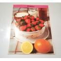 """FICHE CUISINE de ELLE vintage rétro par Madeleine Peter """"fraises"""""""