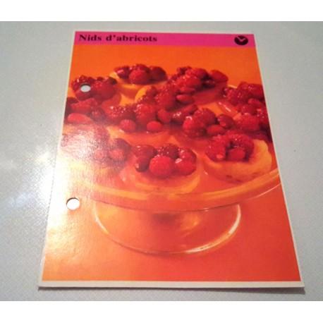 """FICHE CUISINE de ELLE vintage rétro par Madeleine Peter """"Nids d'abricots"""""""