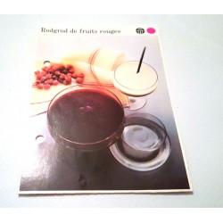 """FICHE CUISINE de ELLE vintage rétro par Madeleine Peter """"Rodgrod de fruits rouges"""""""