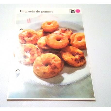 """FICHE CUISINE de ELLE vintage rétro par Madeleine Peter """"Beignets de pomme"""""""