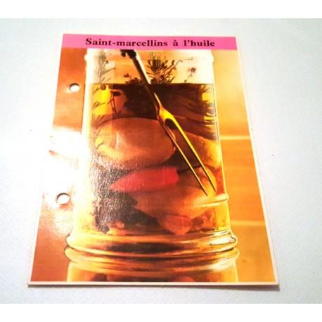 """FICHE CUISINE de ELLE vintage rétro par Madeleine Peter """"Saint Marcellins a l'huile"""""""