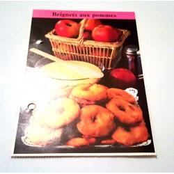 """FICHE CUISINE de ELLE vintage rétro par Madeleine Peter """"Beignets aux pommes"""""""