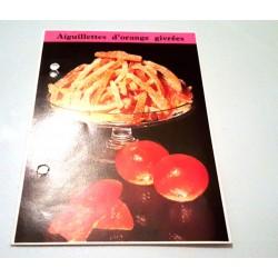 """FICHE CUISINE de ELLE vintage rétro par Madeleine Peter """"Aiguillettes d'orange givrées"""""""