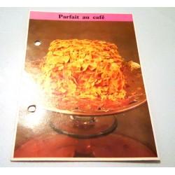 """FICHE CUISINE de ELLE vintage rétro par Madeleine Peter """"Parfait au café"""""""