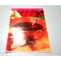 """FICHE CUISINE de ELLE vintage rétro par Madeleine Peter """"Confiture de tomates"""""""