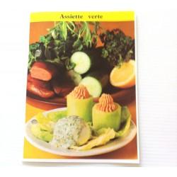 """FICHE CUISINE de ELLE vintage rétro par Madeleine Peter """"Assiette verte"""""""