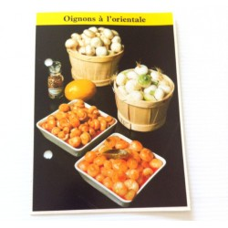 """FICHE CUISINE de ELLE vintage rétro par Madeleine Peter """"Oignons à l'orientale"""""""