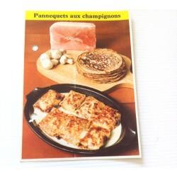 """FICHE CUISINE de ELLE vintage rétro par Madeleine Peter """"Pannequets aux champignons"""""""