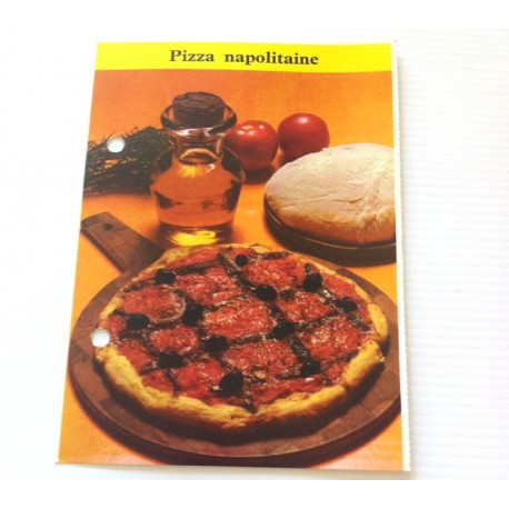 """FICHE CUISINE de ELLE vintage rétro par Madeleine Peter """"Pizza Napolitaine"""""""