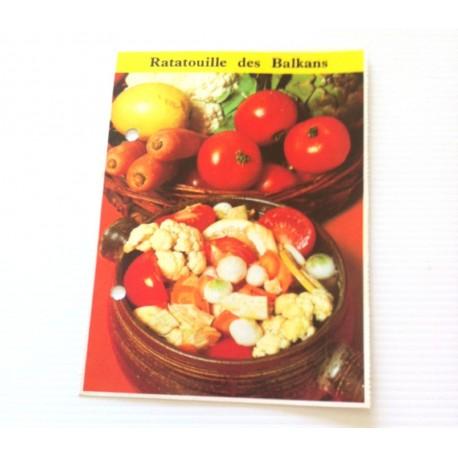 """FICHE CUISINE de ELLE vintage rétro par Madeleine Peter """"Ratatouille des Balkans"""""""