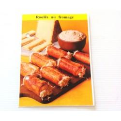 """FICHE CUISINE de ELLE vintage rétro par Madeleine Peter """"Roulés au fromage"""""""
