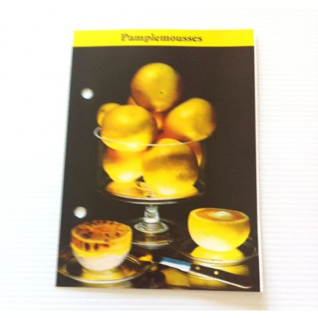"""FICHE CUISINE de ELLE vintage rétro par Madeleine Peter """"Pamplemousses """""""