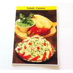 """FICHE CUISINE de ELLE vintage rétro par Madeleine Peter """"Salade carmen"""""""