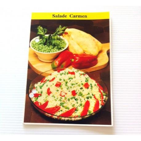 """FICHE CUISINE de ELLE vintage rétro par Madeleine Peter """"Salade carmen """""""
