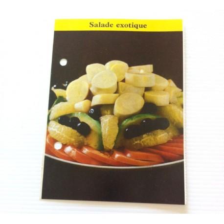 """FICHE CUISINE de ELLE vintage rétro par Madeleine Peter """"Salade exotique"""""""