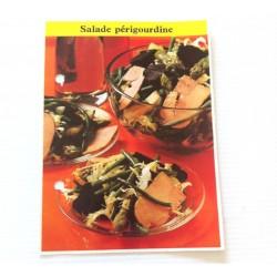 """FICHE CUISINE de ELLE vintage rétro par Madeleine Peter """"Salade Périgourdine"""""""