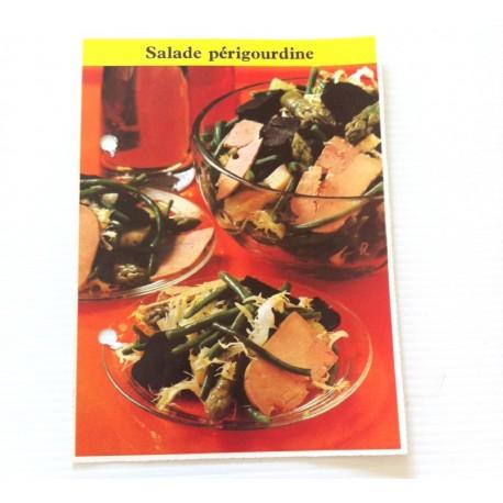 """FICHE CUISINE de ELLE vintage rétro par Madeleine Peter """"Salade Périgourdine """""""