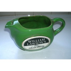 Ancien pichet céramique vert whisky William Lawson Orchies MDL