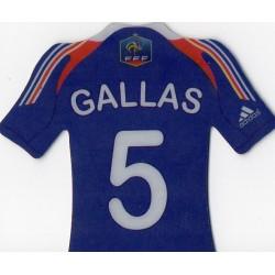 Aimant magnet frigo collection football maillot joueur GALLAS