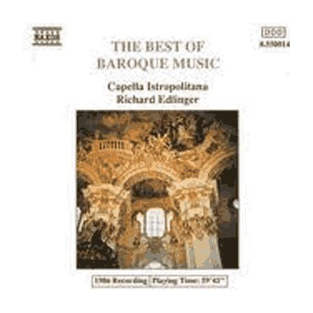 CD ALBUM MUSIQUE CLASSIQUE Best of Baroque music:Bac,Haendel,Vivaldi&Albinoni Dir. Edlinger Capella Istropolitana