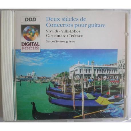 Musique cd compilation DEUX SIECLES DE CONCERTOS POUR GUITARE Vivaldi - Castelnuovo - Villa Lobos - Tedesco