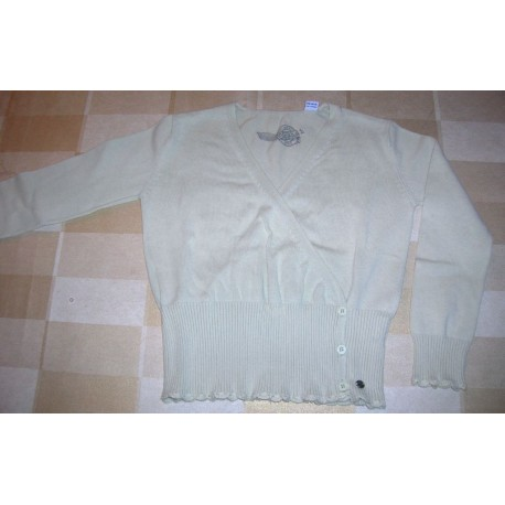 Pull enfant fille marque OKAIDI taille 5 ans manche longue vert clair col V