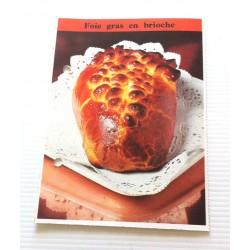 """FICHE CUISINE de ELLE vintage rétro par Madeleine Peter """"foie gras en brioche"""""""