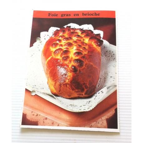"""FICHE CUISINE de ELLE vintage rétro par Madeleine Peter """"foie gras en brioche """""""