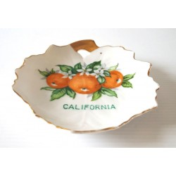 Ancienne déco a poser barbotine céramique CALIFORNIA