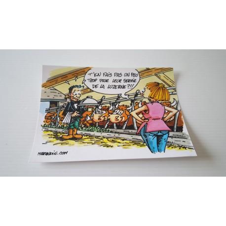 Carte postale humour agriculteur luzerne - Collection version 1 neuve