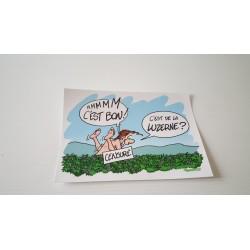 Carte postale humour agriculteur luzerne -Collection version 7 neuve