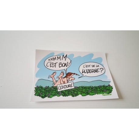 Collection - Carte postale humour agriculteur luzerne - version 7
