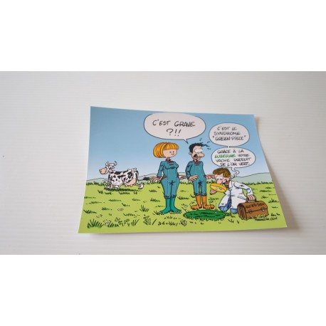 Collection - Carte postale humour agriculteur luzerne - version 8