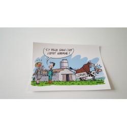 Carte postale humour agriculteur luzerne - Collection version 9 neuve