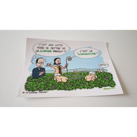 Collection - Carte postale humour agriculteur luzerne - version 14