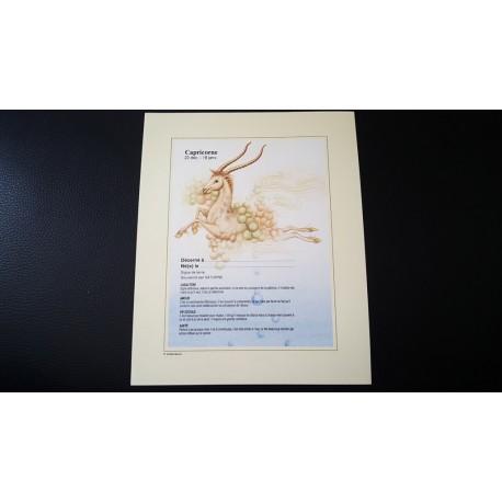 Diplome signe astrologique - Zodiaque - Capricorne - idée cadeau anniversaire fête Neuf